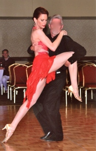 "First showcase dance in 2009, an International Rumba to Bette Midler's ""Do You Wanna Dance?"" Though semi-disastrous for a multitude of reasons, it did not stop my ballroom addiction from blossoming."